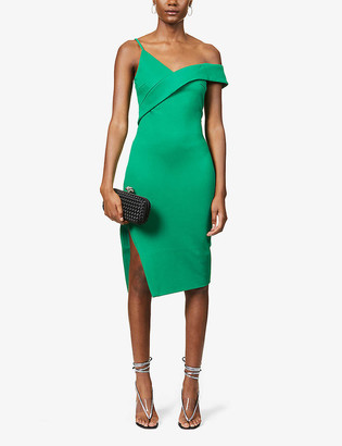 Lavish Alice V-neck crepe midi dress