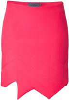 Preen Asymmetric Hem Scuba Skirt