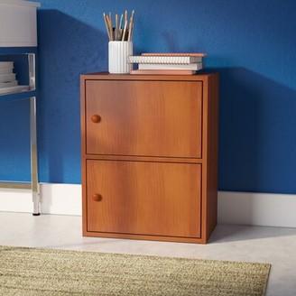 Ebern Designs Nivens 2 Door Accent Cabinet Ebern Designs Color: Light Cherry
