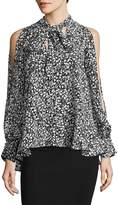 French Connection Women's Cold-Shoulder Floral Blouse