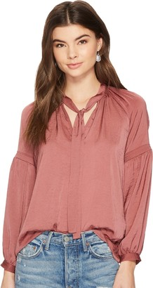 Lucky Brand Women's Jenna Peasant Top