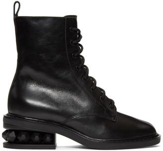 Nicholas Kirkwood Black Suzi Combat Boots