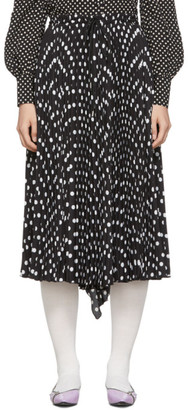 Marc Jacobs Black The Pleated Skirt