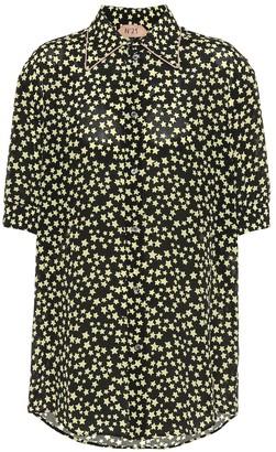 N°21 Star-printed silk shirt