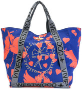 Vivienne Westwood bird print oversized tote - women - Cotton - One Size