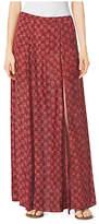 Michael Kors Leaf-Print Maxi Skirt