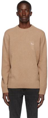 MAISON KITSUNÉ Beige Wool Profile Fox Sweater