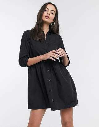 Asos Design DESIGN cotton mini smock shirt dress