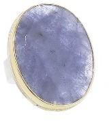 Jamie Joseph Rose Cut Oval Tanzanite Ring