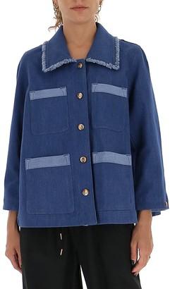 Chloé Contrast Detailed Denim Jacket