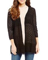 Wyldehart Open Front 3/4-Sleeve Knit Cardigan