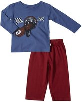 City Threads Car 7 Graphic Tee Set (Baby) - Smurf/Red-3-6 Months