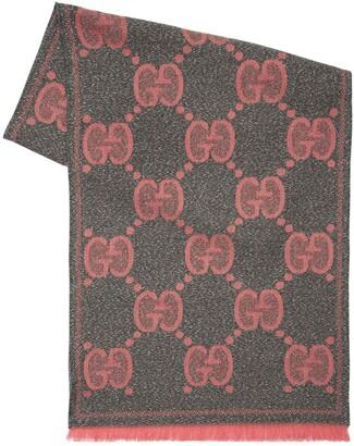 Gucci Gg Lurex Wool Scarf