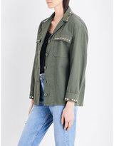 Sandro Studded stretch-cotton jacket