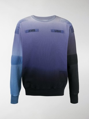 Ambush Tie-Dye Patchwork Sweatshirt