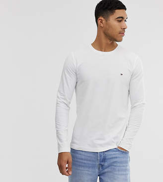 Tommy Hilfiger exclusive to asos icon flag logo long sleeve top in white