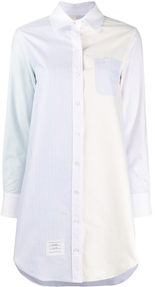 Thom Browne Vertical-Stripe Long Shirt