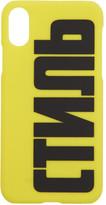 Heron Preston Yellow Style iPhone XS Case