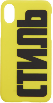 Heron Preston Yellow Style iPhone XS Case
