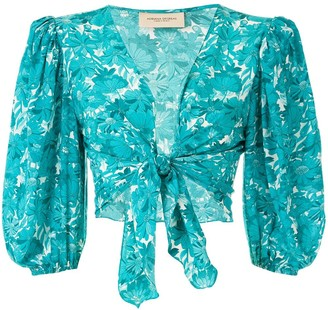 Adriana Degreas Floral-Print Tie-Fastening Blouse