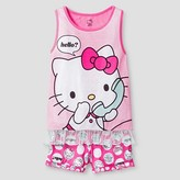 Hello Kitty Girls' Pajama Set - Pink