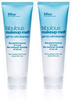 Bliss Fabulous Makeup Melt Gel-To-Oil Cleanser Set Of 2