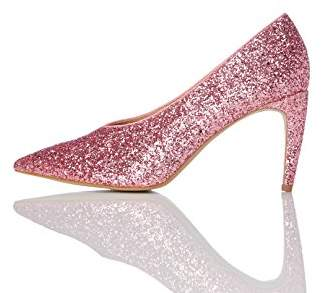 find. Women's Court Shoe with Glitter, Pink