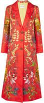 Etro Printed Jacquard Coat - Red