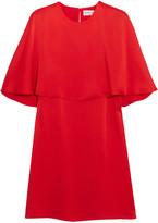 Sonia Rykiel Cape-effect satin-crepe mini dress