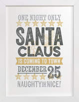 Minted Santa Claus is Coming to Town Art Print