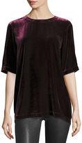 Eileen Fisher Velvet Half-Sleeve Easy Top