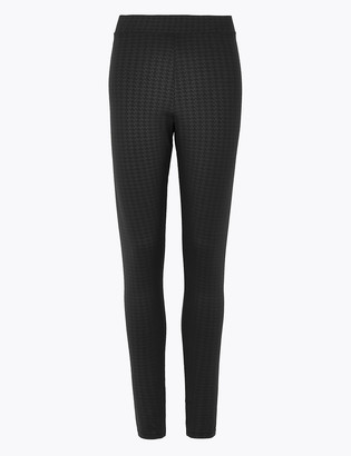 Marks and Spencer Dogtooth Coated High Waisted Leggings