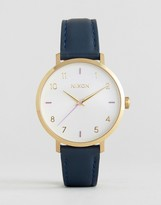 Nixon Arrow Navy Leather Watch A1091-151
