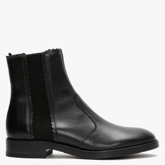 See by Chloe Maddie Black Leather Flat Ankle Boots
