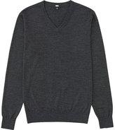 Uniqlo Men Extra Fine Merino V-Neck Sweater