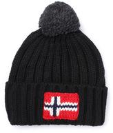 Napapijri Black Knitted Beanie Hat