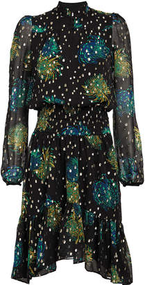 A.L.C. Reese Floral Georgette Dress