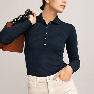 La Redoute Collections Long Sleeve Polo Shirt