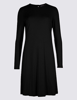 M&S Collection Long Sleeve Swing Dress