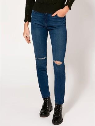 M&Co Slim leg ripped knee jeans