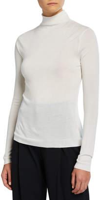 Vince Shrunken Merino Wool/Silk Turtleneck Sweater