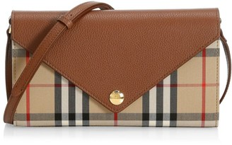 Burberry Hannah Vintage Check Wallet-On-Strap