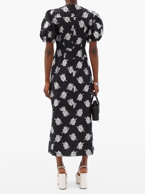 Thumbnail for your product : Erdem Antonetta Floral Fil-coupe Jacquard Dress - Black Multi