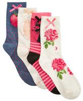 Disney Women's 4-Pk. Assorted Princesses Socks
