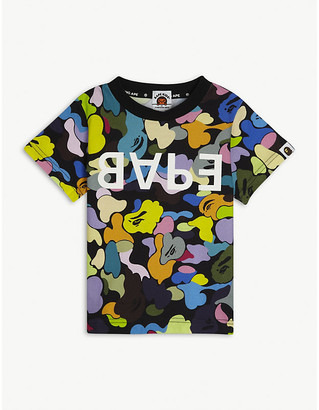 A Bathing Ape Camouflage-print cotton-jersey T-shirt 2-16 years