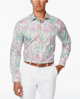 Tallia Men's Slim-Fit Floral Cotton Dress Shirt