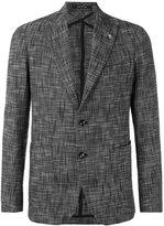 Tagliatore notched lapel patterned blazer