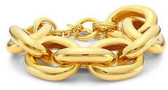 Kenneth Jay Lane Wide Chain Bracelet