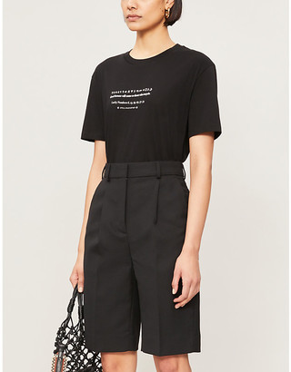 Stella McCartney Recycle slogan-print organic cotton-jersey T-shirt
