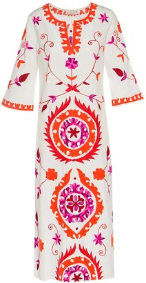 Ada Kamara Long Suzanni White Orange Dress